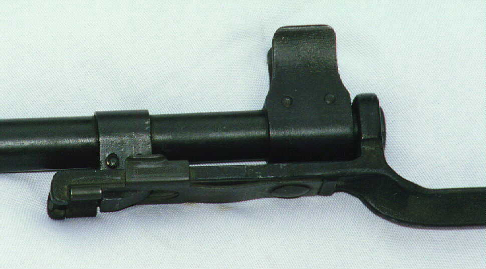 Bayonet on muzzle - detail photo